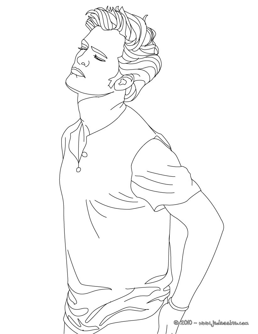 Coloriages robert pattinson colorier en ligne fr - Colorier en ligne ...
