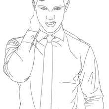 Taylor Lautner chemise à colorier - Coloriage - Coloriage DE STARS - Coloriage TAYLOR LAUTNER