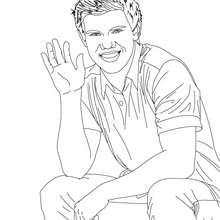 Taylor Lautner salut à colorier - Coloriage - Coloriage DE STARS - Coloriage TAYLOR LAUTNER