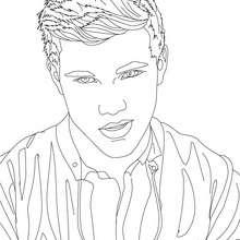 Taylor Lautner regard à imprimer - Coloriage - Coloriage DE STARS - Coloriage TAYLOR LAUTNER