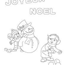 Coloriage joyeux Noel à imprimer