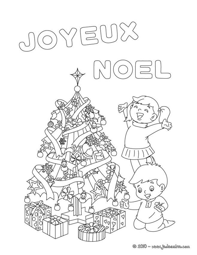 Coloriages joyeux noel avec sapin colorier - Dessin joyeux noel ...