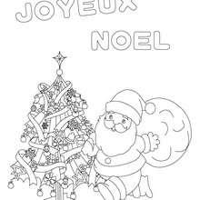 joyeux noel à colorier - Coloriage - Coloriage FETES - Coloriage NOEL - Coloriage PERE NOEL - Coloriages PERE NOEL