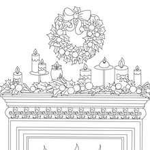 coloriage cheminée décorée - Coloriage - Coloriage FETES - Coloriage NOEL - Coloriage CHEMINEE DE NOEL