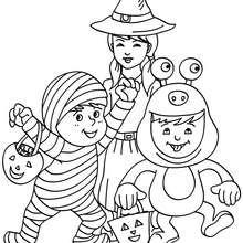 petits monstres à colorier - Coloriage - Coloriage FETES - Coloriage HALLOWEEN - Coloriage MONSTRE HALLOWEEN