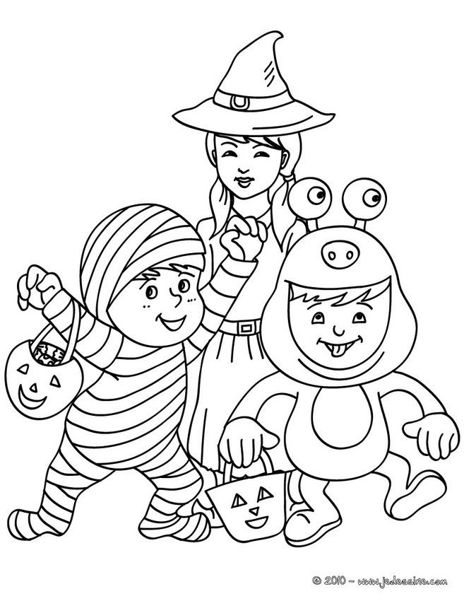 Coloriages petits monstres colorier - Dessin monstre halloween ...