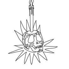 coloriage tête de mort - Coloriage - Coloriage FETES - Coloriage FETE DES MORTS MEXICAINE
