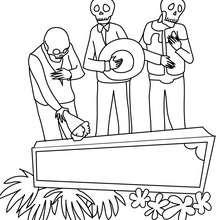 coloriage cercueil mexicain - Coloriage - Coloriage FETES - Coloriage FETE DES MORTS MEXICAINE