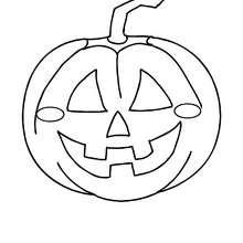 Coloriage d'Halloween : jolie citrouille halloween