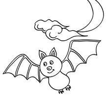 Coloriage d'Halloween : chauve souris à colorier