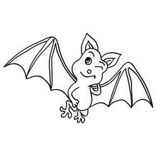 Coloriage chauve-souris clin d'oeil - Coloriage - Coloriage FETES - Coloriage HALLOWEEN - Coloriage CHAUVE SOURIS HALLOWEEN