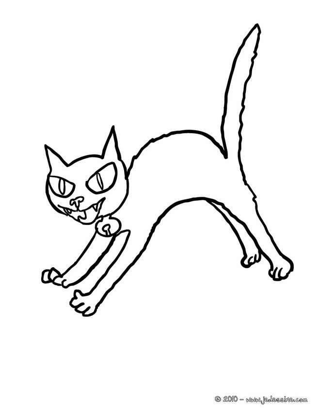 Coloriages chat effray imprimer - Dessin chat assis ...