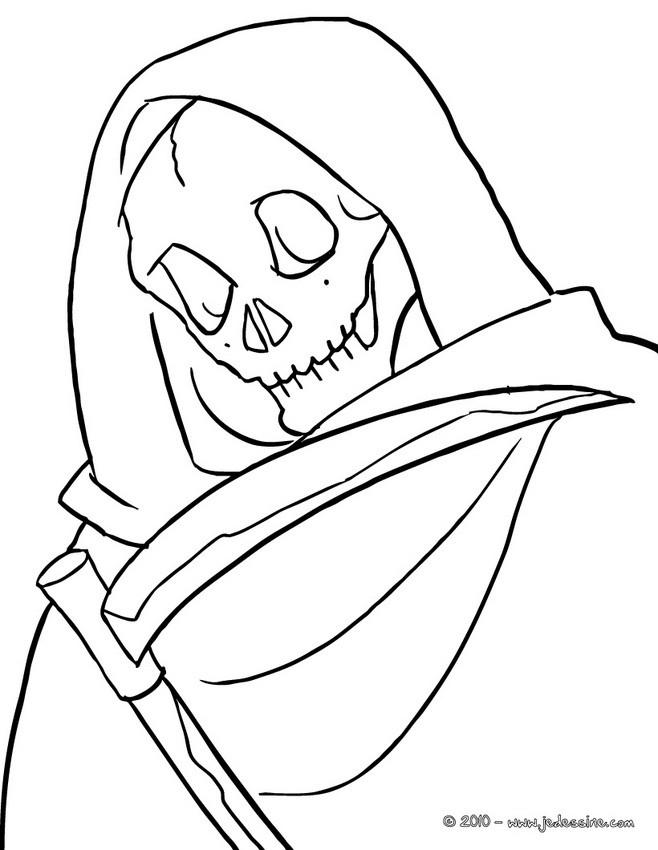 Coloriage d'Halloween : coloriage la mort halloween