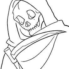coloriage la mort halloween - Coloriage - Coloriage FETES - Coloriage HALLOWEEN - Coloriage MORT HALLOWEEN