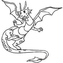 coloriage grand dragon - Coloriage - Coloriage GRATUIT - Coloriage PERSONNAGE IMAGINAIRE - Coloriage CHEVALIERS ET DRAGONS