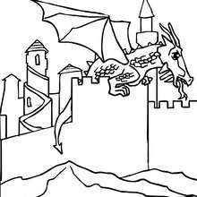 Le dragon attaque le château
