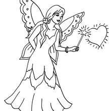 fée ailes en dentelle à colorier - Coloriage - Coloriage GRATUIT - Coloriage PERSONNAGE IMAGINAIRE - Coloriage FEE