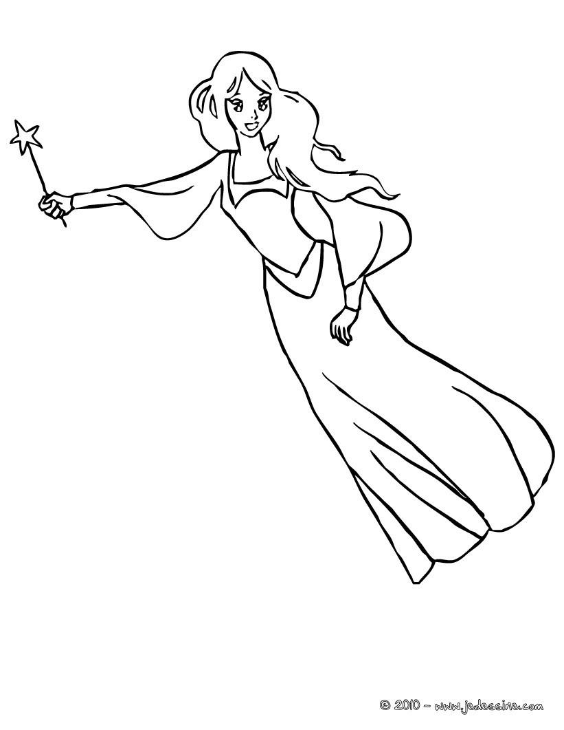 Coloriage A Imprimer Princesse Qui Vole.Coloriage Fee Clochette Vole