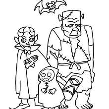 monstres halloween à imprimer - Coloriage - Coloriage FETES - Coloriage HALLOWEEN - Coloriage MONSTRE HALLOWEEN