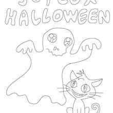fantôme halloween à colorier