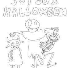joyeux halloween à imprimer - Coloriage - Coloriage FETES - Coloriage HALLOWEEN - Coloriage MONSTRE HALLOWEEN