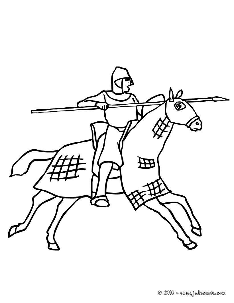 Coloriages entrainement du chevalier - Dessin chevalier ...
