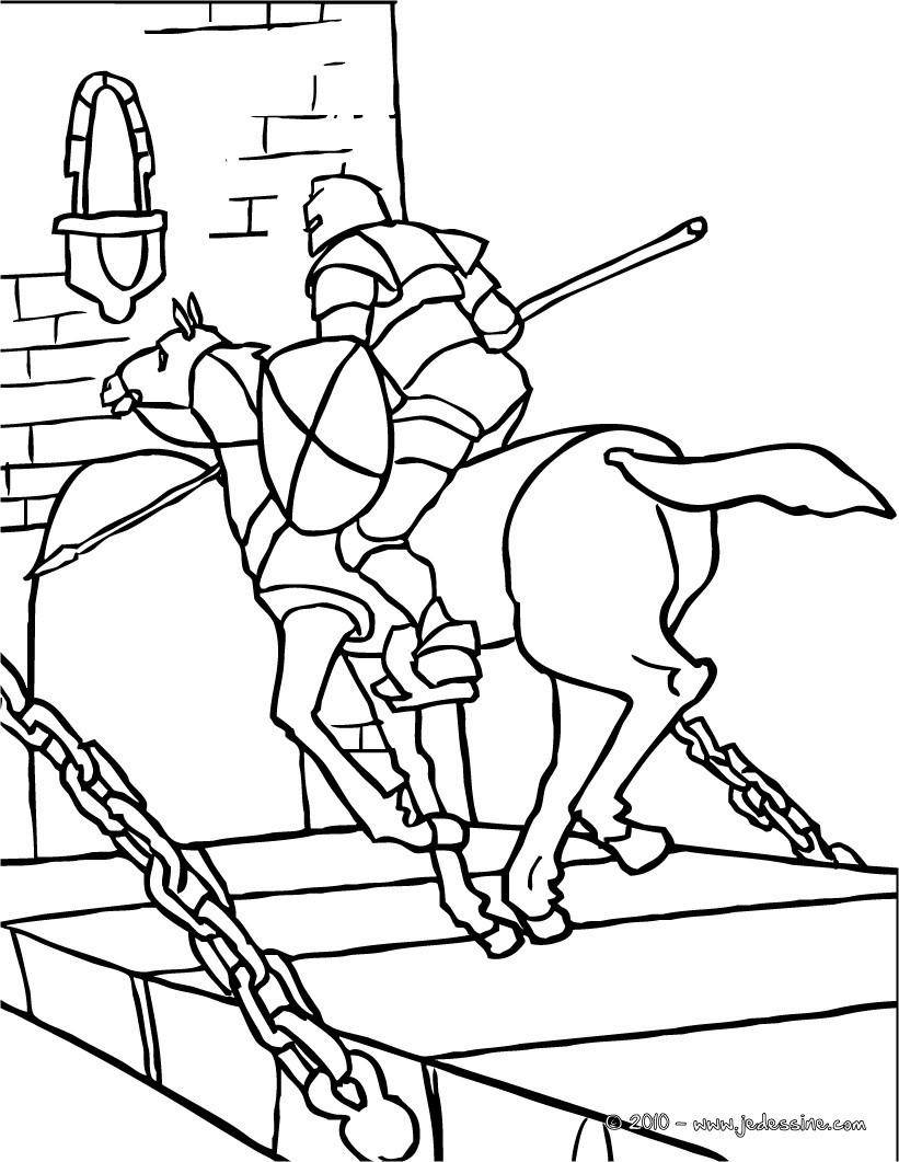 Le chevalier et sa Princesse course de chevaliers gratuit  colorier Coloriage Coloriage GRATUIT Coloriage PERSONNAGE IMAGINAIRE