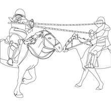 coloriage rencontre chevaliers à colorier - Coloriage - Coloriage GRATUIT - Coloriage PERSONNAGE IMAGINAIRE - Coloriage CHEVALIERS ET DRAGONS