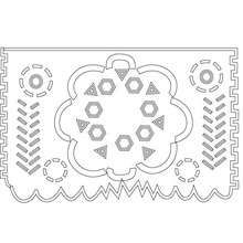 décoration naperon mexicain à imprimer - Coloriage - Coloriage FETES - Coloriage FETE DES MORTS MEXICAINE