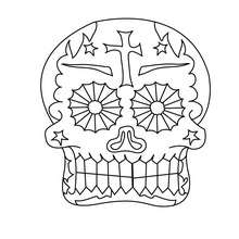 Coloriage : masque crâne à colorier