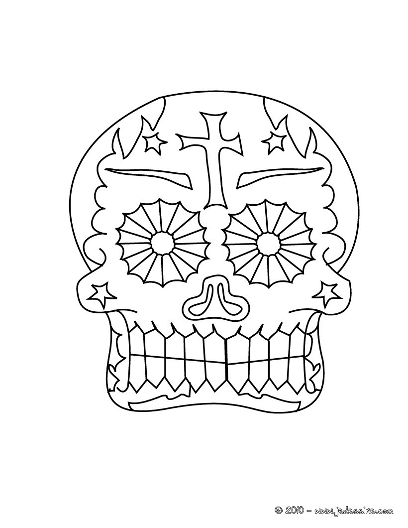 Coloriage Fete Des Morts Mexicaine Coloriages Coloriage à
