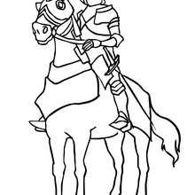 chevalier seul à colorier - Coloriage - Coloriage GRATUIT - Coloriage PERSONNAGE IMAGINAIRE - Coloriage CHEVALIERS ET DRAGONS