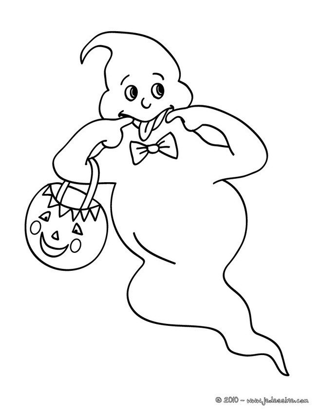 Coloriages coloriage fant me coquin - Fantome halloween ...