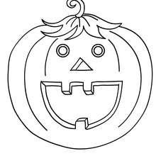 Coloriage d'Halloween : citrouille halloween gratuite