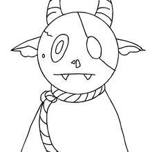 déguisement monstre à colorier - Coloriage - Coloriage FETES - Coloriage HALLOWEEN - Coloriage MONSTRE HALLOWEEN