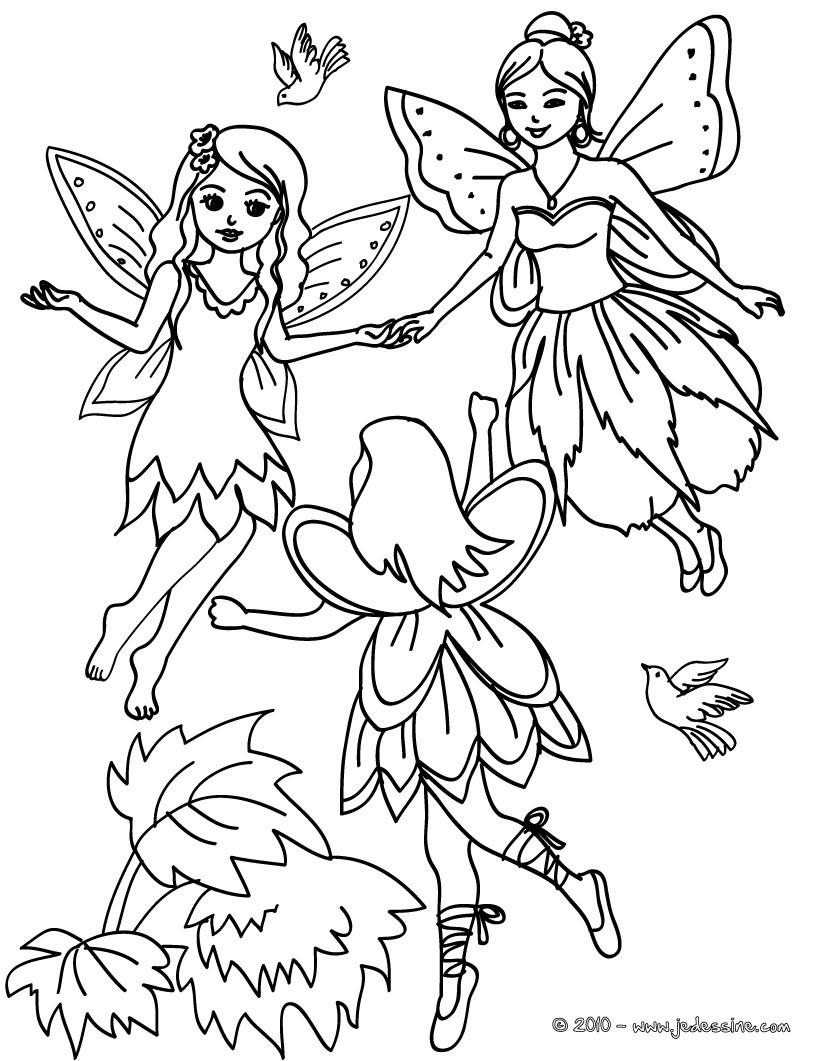 Coloriage : ronde des fées à colorier
