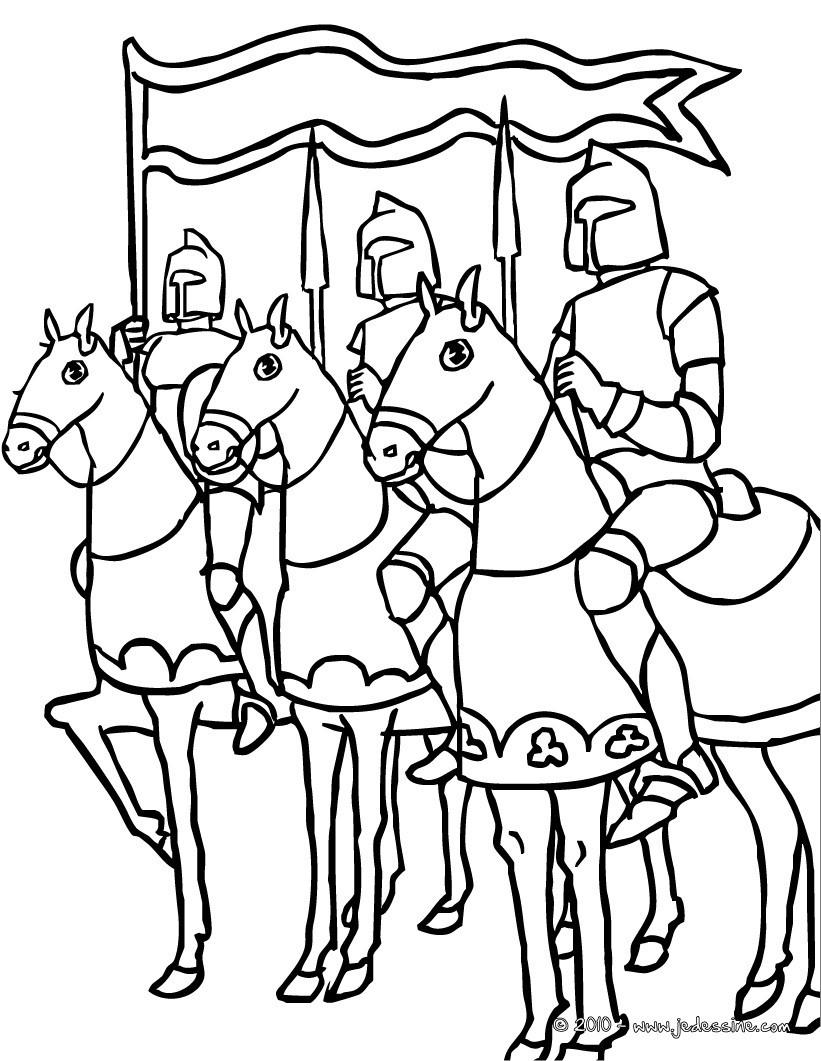 coloriages un chevalier se fait adouber fr hellokids com