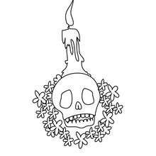 crâne décoré à colorier - Coloriage - Coloriage FETES - Coloriage FETE DES MORTS MEXICAINE