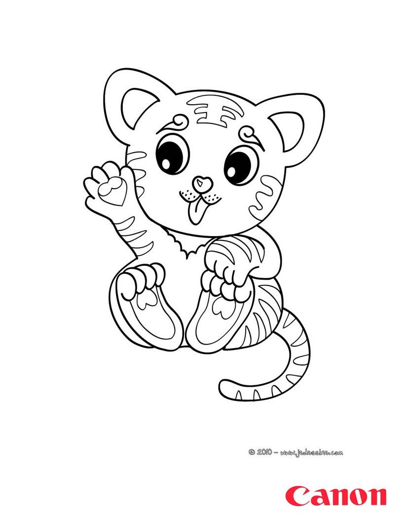 Coloriages un tigre imprimer avec canon pixma - Photo de tigre a imprimer ...