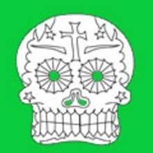 Coloriage FETE DES MORTS MEXICAINE - Coloriage FETES - Coloriage
