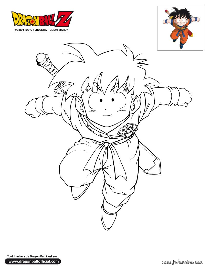 Coloriage Dragonball Z Bebe Sangohan