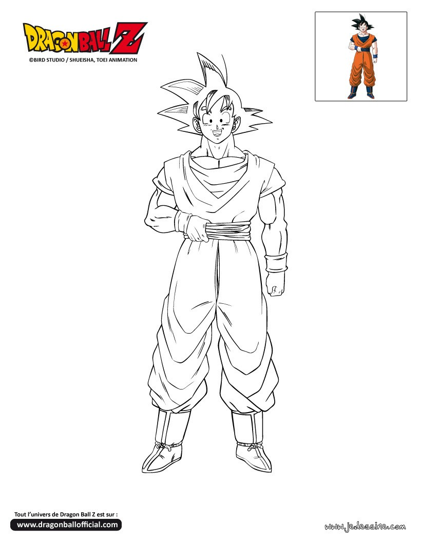 Coloriages coloriage goku - Coloriage dragon ball z sangoku ...