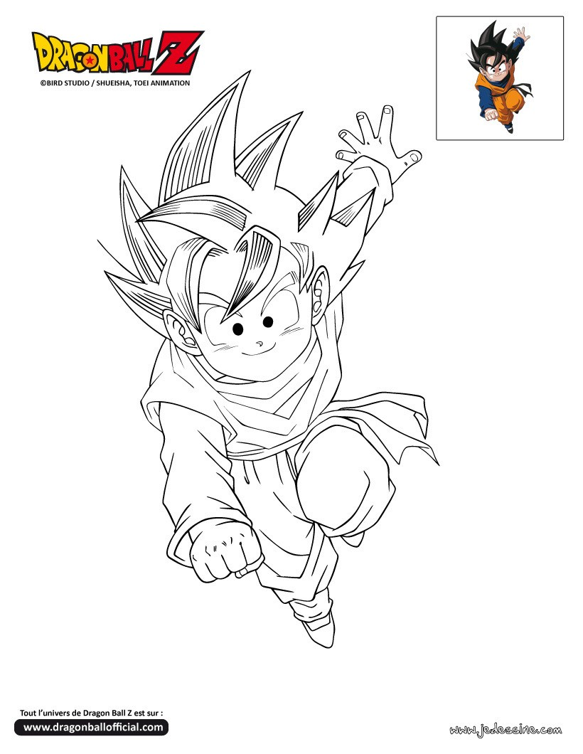 Coloriages coloriage goten - Dessin de dragon ball ...