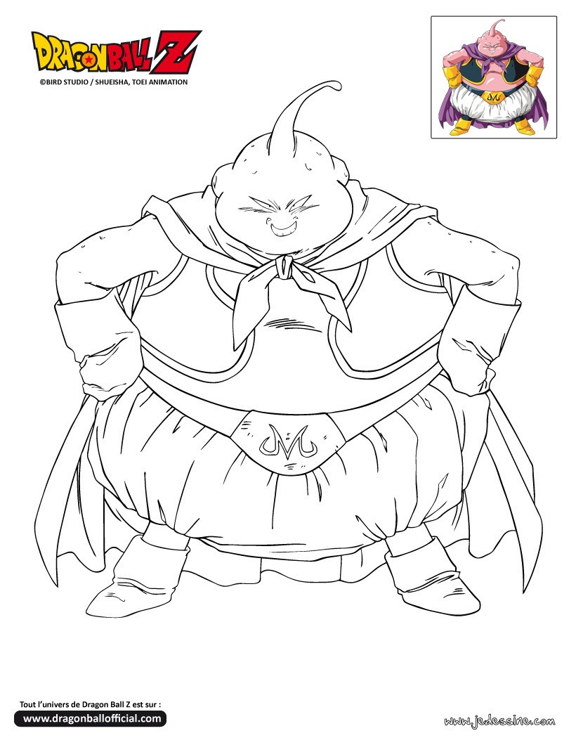 coloriage a imprimer dragon ball z boubou