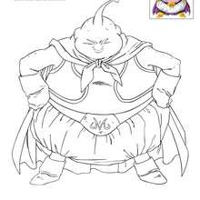 Coloriage SURPUISSANT BOO - Coloriage - Coloriage DRAGONBALL Z