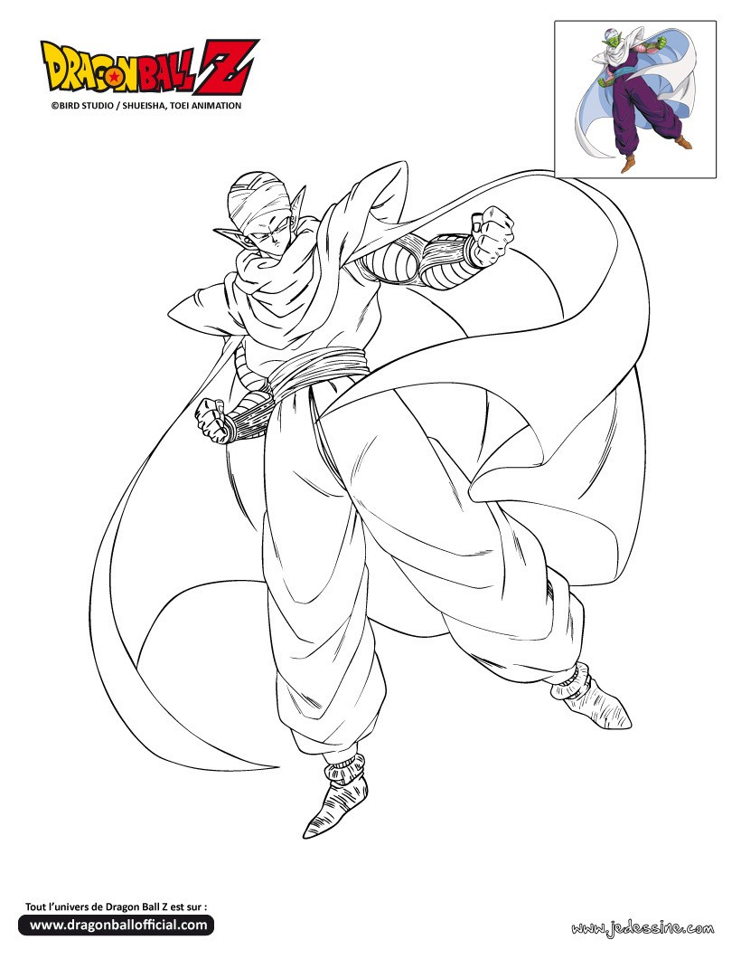 Coloriage DRAGONBALL Z Coloriage PICCOLO