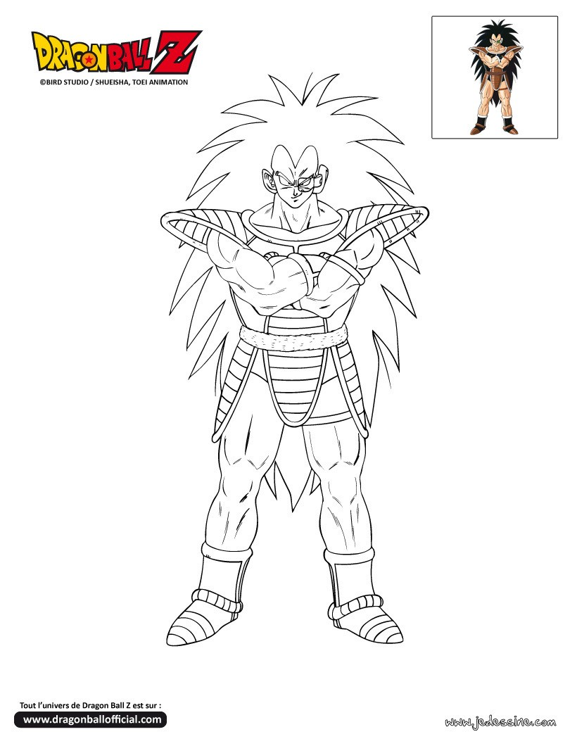 Coloriage DRAGONBALL Z Coloriage RADITZ Coloriage