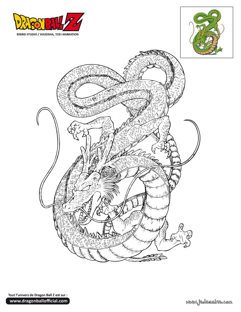 Pin coloriage dragonball z shenron a imprimer dragon - Coloriage dragon ball gt ...