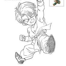 Coloriage TRUNKS enfant - Coloriage - Coloriage DRAGONBALL Z