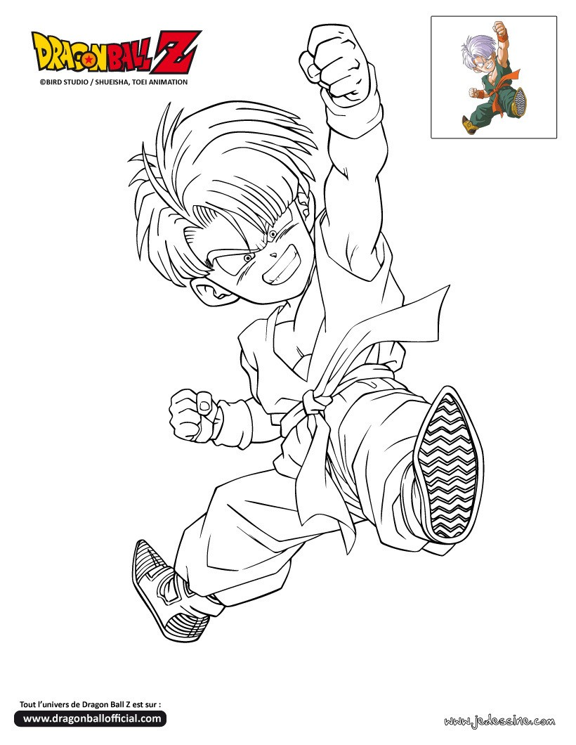 Coloriage DRAGONBALL Z Coloriage TRUNKS enfant